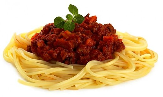 Some of them have fancy names. This is 'Bolognese'. I call it 'Yummy'!