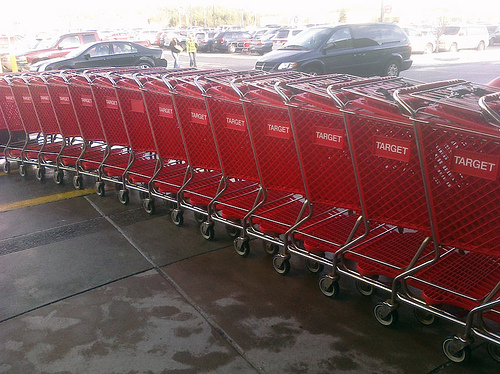 Target Shopping Carts on Black Friday