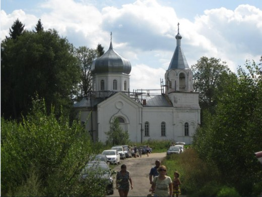 Church by sacred spring in vicinity of Valday District of Novgorod Oblast, Russia