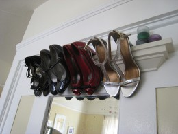 This is an interesting way to store some of your prettier heels.