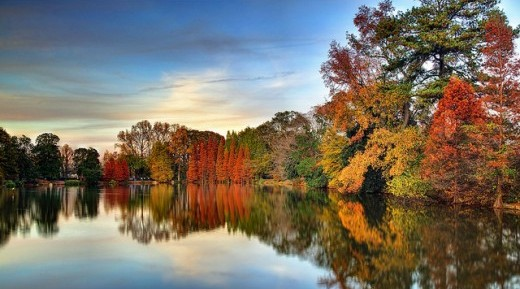 Autumn in Lake Clara Meer in Downtown Atlanta