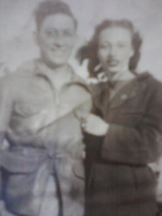Mom with an old boyfriend before she was married to Brice Stevenson