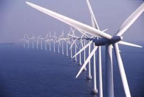 Off-Shore Wind Turbines on a Wind Farm