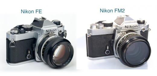 Nikon FE vs FM Film SLR Models (I don't know why I put FM2 while I was editing this photo)