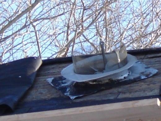 Mid winter roof repair