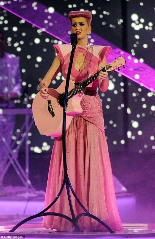 Katy Perry performing at the America Music Awards 2011
