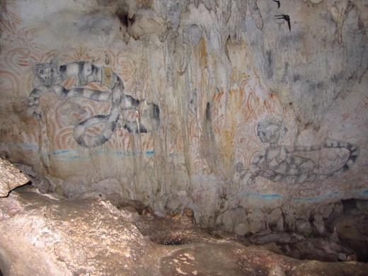 sketch inside Hinagdanan Cave
