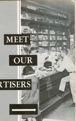 I think it was the cute boys that drew my friend and I from Arps to Wombles Drug Store. (photo from The Roanoke Log 1964)