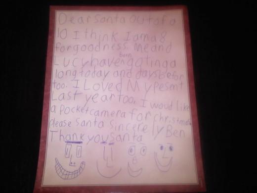 Ben's Letter to Santa