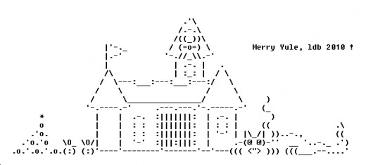 Beliebt Merry Christmas ASCII Text Art | Holidappy PZ86