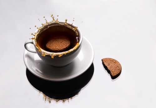 Enjoy a cup of coffee with your guests.