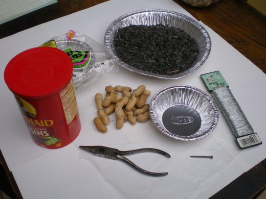 What you will need for making small aluminum baskets