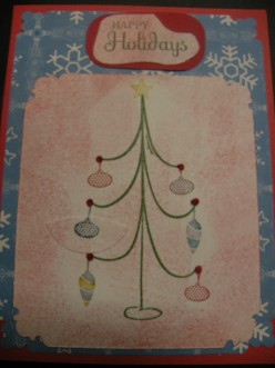 Easy to Make Christmas Holiday Card with Stamping