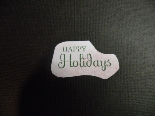 Sentiment stamped on White cardstock