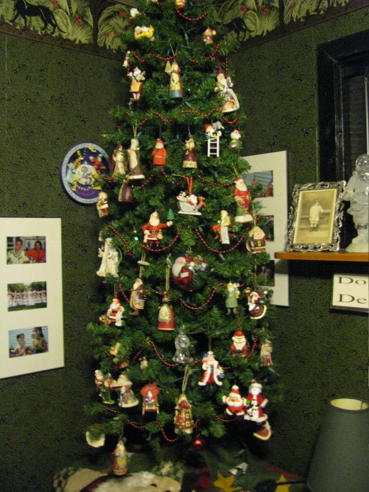 My Santa tree.