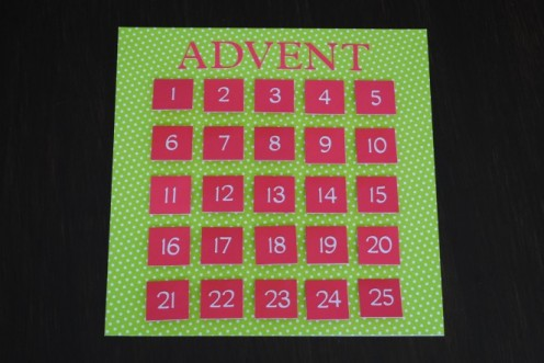 Take a look for The Red Bird's Advent Calendar Ideas.
