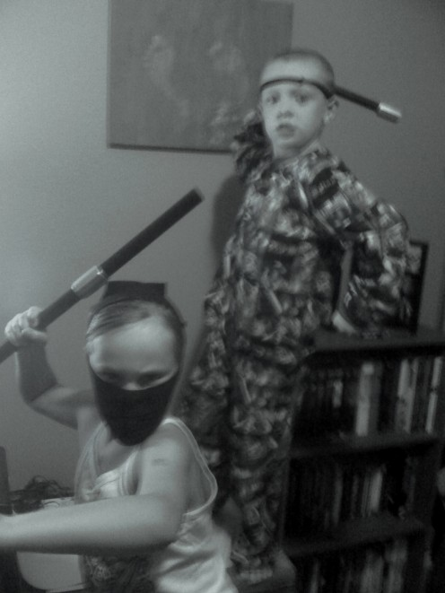 I may not have the skills, but my kids are ninjas!