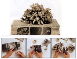 Get Creative -- Wrap With Newspaper!