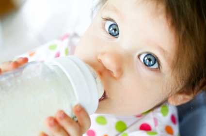 Boil your baby bottles regularly to sterilize them so they are as free from bacteria and germs as possible before giving them to your child.