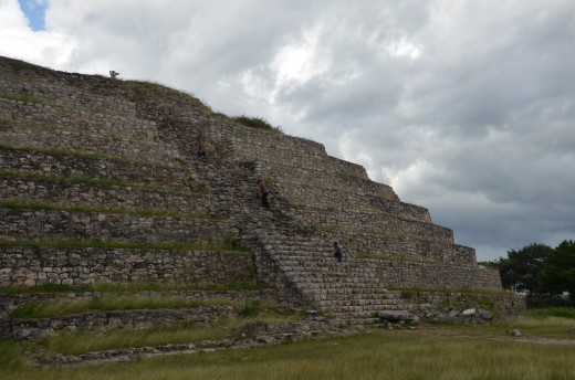 Interestingly, this is a pyramid on TOP of a pyramid. The base itself is HUGE!