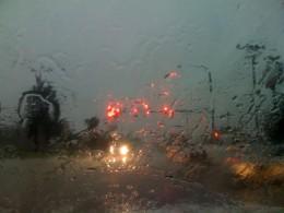 It was raining!