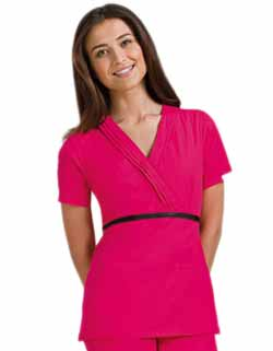 Cherokee Studio B Women Mock Wrap Nurse Scrub Top
