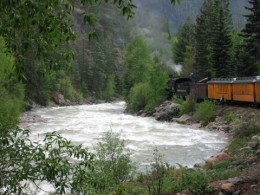 Photo taken from the Durango Silverton train- just holding the camera out the windo- scenery is amazing.