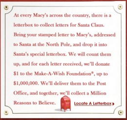 Where can I drop off a letter to Santa?