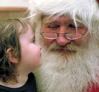 ONE OF SANTA'S MAIN JOBS IS LISTENING TO CHILDREN TELL HIM WHAT THEY WANT FOR CHRISTMAS. IF HE ISN'T CAREFUL, HE MIGHT HAVE TO HAVE A THIRD PARTY TO OBSERVE ALL CONVERSATIONS.