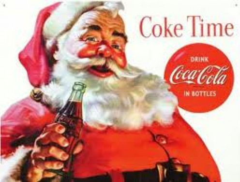 THANKS, COCA COCA, FOR MAKING SANTA YOUR SPOKESMAN. THAT OTHER COLA COMPANY HAS TRIED TO TARNISH SANTA'S ASSOCIATION WITH COKE IN THEIR TV ADS. THATS WHY I AM A LOYAL COKE FAN.