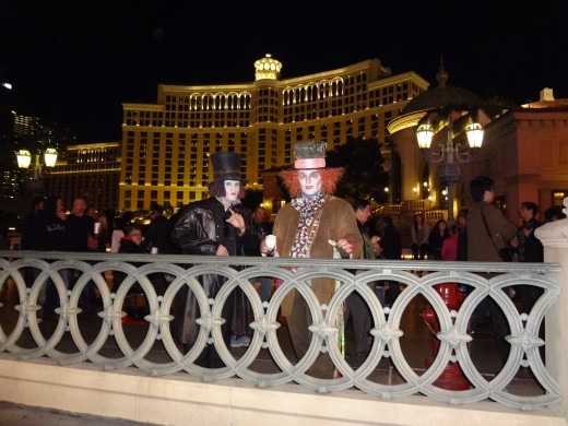 Just outside the Bellagio....