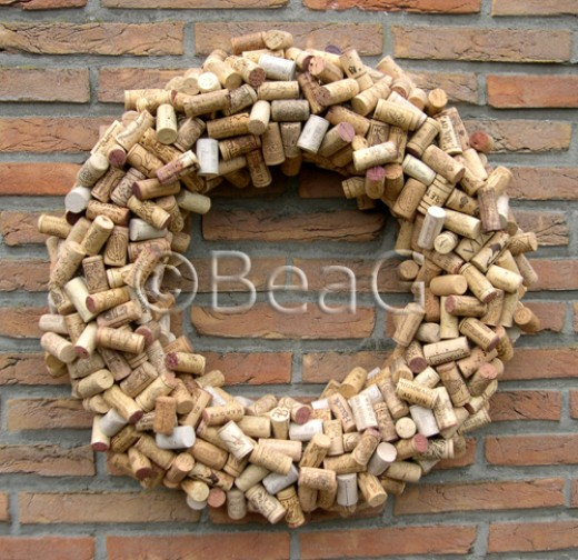 Wine Corks Wreath (Wijnkurkenkrans)