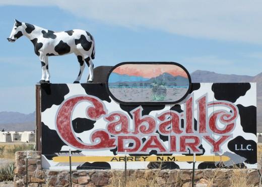 Dairy sign near Williamsburg, NM