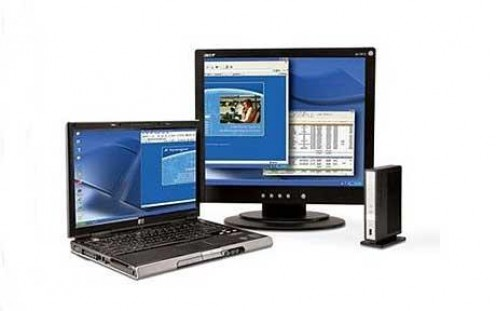Connect your laptop to an external monitor for a larger display or to extend your digital workspace.