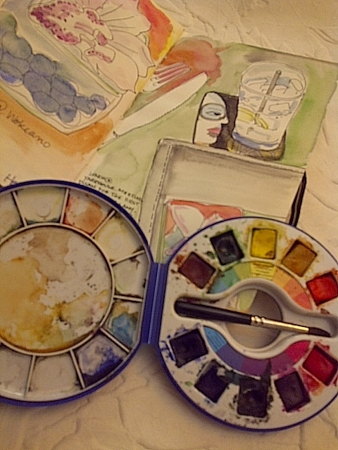 "Keeping my little box of paints and my sketchbook in my purse at all times helps me to ""see"" what's around me"