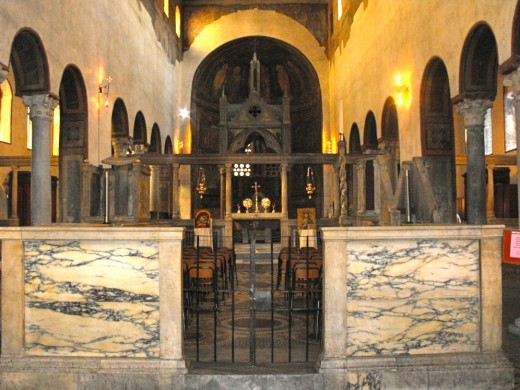 Church of Santa Maria in Cosmedin to which the Mouth of Truth is attached.