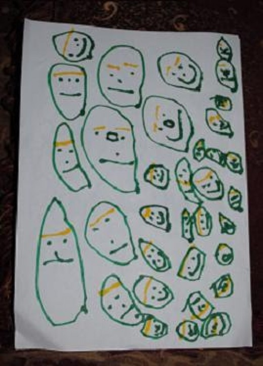 This is my daughter's drawings in her toddler years (2-3 years old)