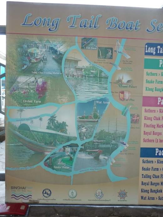 Map for Long Tail Boat Trip