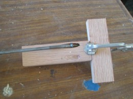 clamp aligns the joint while screws are added