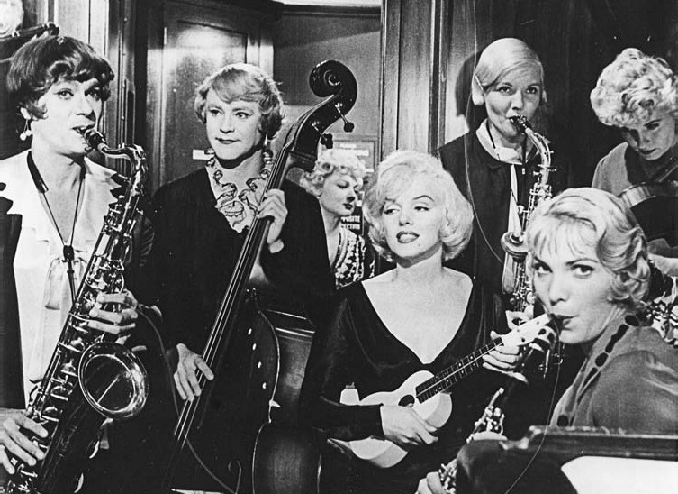 Tony Curtis, Jack Lemmon and Marilyn Monroe in 1959's Some Like It Hot