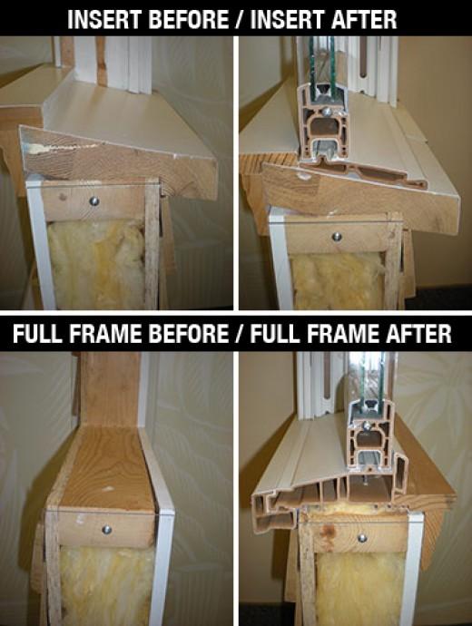 Full Frame versus Insert Window Replacement