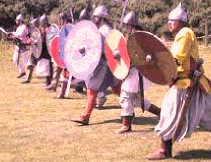 The Imperator's (emperor's) Varangian Guard in full cry
