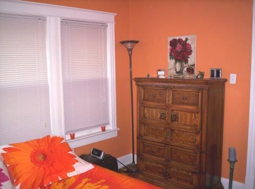 Hidey Hole Atomic Orange Bedroom