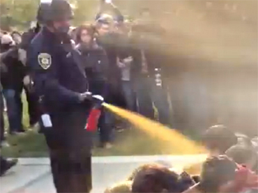 Lt. John Pike dousing UC at Davis protesters