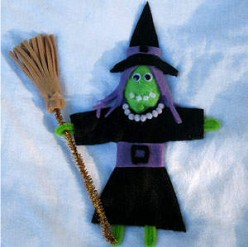 halloween crafts plastic spoon witch