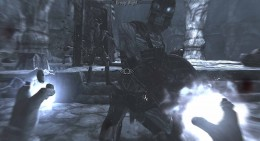 Skyrim Using Complete Slow Time Dragon Shout in Korvanjund Crypt Draugr Fight (Draugr Deathlord wearing the Jagged Crown at the back)