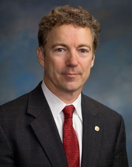 "Republican Senator Rand Paul was one of the most outspoken critics of the ""battlefield USA"" language, and supported the Udall amendment.  Image courtesy Wikimedia Commons."