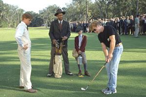 Legend of Bagger Vance (2000),   Matt Damon (left) and Will Smith (second from left).