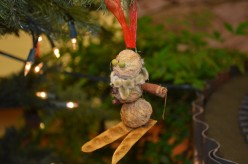 Childrens Homemade Ornaments - Made from Items Found in Nature
