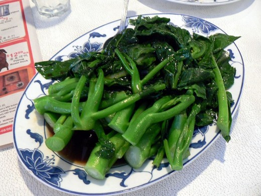 Chinese broccoli is often served in Asian restaurants.